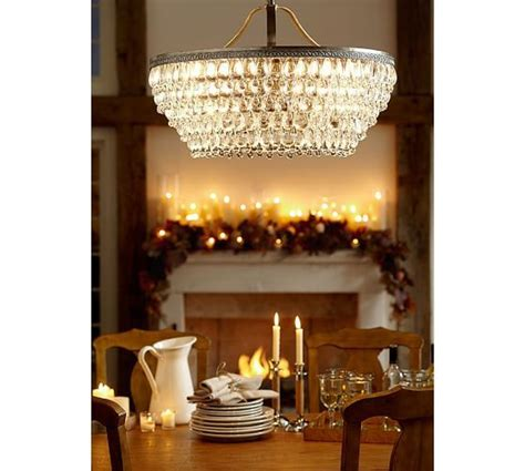 clarissa glass drop large chandelier pottery barn
