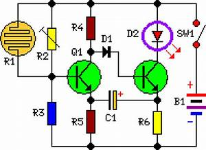 Dark Activated Led or Lamp Flasher circuit diagram and