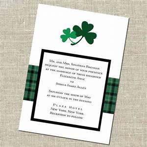 items similar to double shamrock irish wedding invitation With etsy wedding invitations ireland