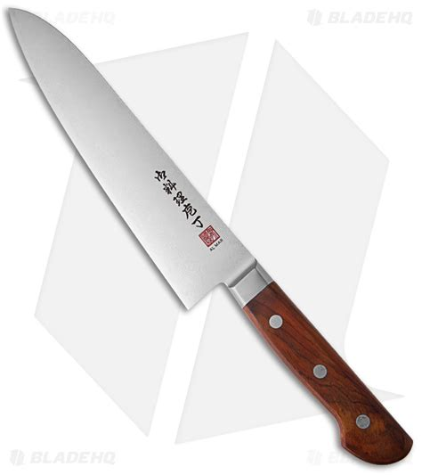 wood handle kitchen knives al mar ultra chef 8 quot damascus gyuto knife w cocobolo wood handle am uc8 blade hq
