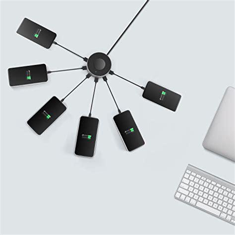 l with charging station vogek 6 port usb charger desktop charging station with