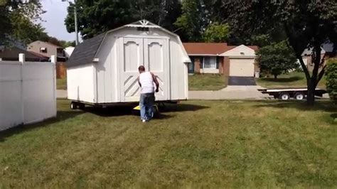 how to move a shed the trick of how to move a shed the easy way
