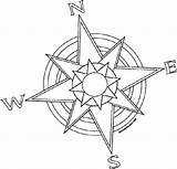 Rose Coloring Pirate Compass Printable sketch template