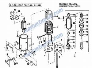 Electric Starter Group Delco Remy Parts For 1963 75hp V4s