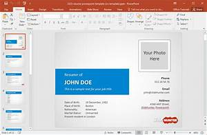 how to make a resume in powerpoint With how to create power point template