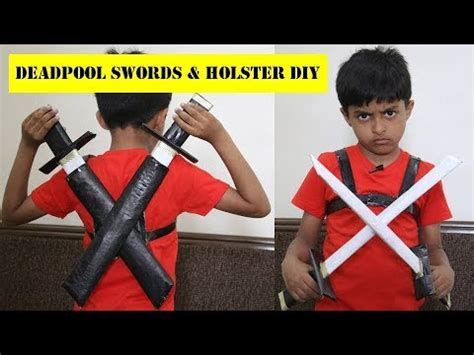 how to make deadpool swords with newspapers easy deadpool katana and holster diy paper