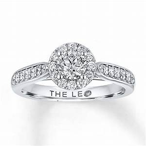 kay leo engagement ring 3 4 ct tw diamonds 14k white gold With leo wedding ring
