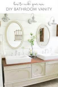 Build My Own Bathroom Vanity Diy Vintage Buffet Bathroom Vanity The Creative Corner