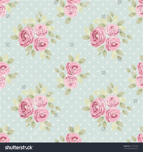 shabby chic wallpaper and fabric cute seamless shabby chic pattern roses stock vector 313724786 shutterstock