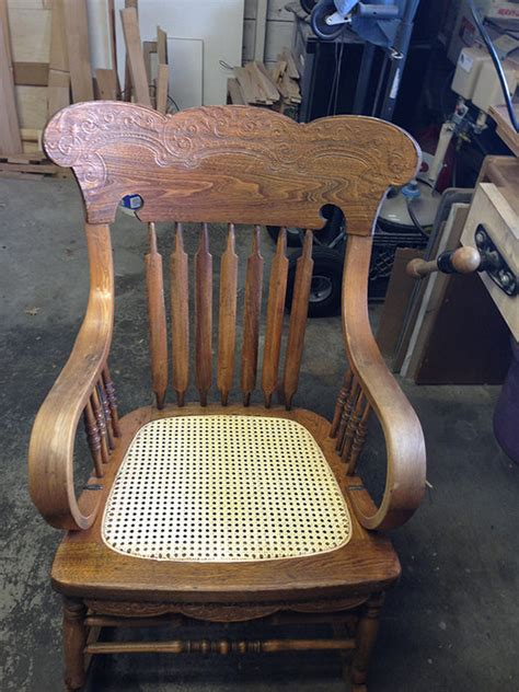 recaning a rocking chair recaning an antique oak rocking chair by jerry