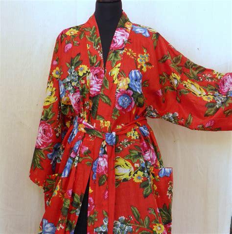patron robe de chambre femme kimono robe de chambre en coton imprimé shalimar