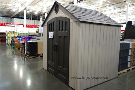 costco storage shed costco lifetime 8 x 6 5 resin outdoor storage shed