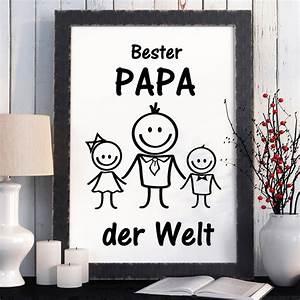 Bester Schließzylinder Der Welt : print illustration bester papa der welt kinder wandtattoo loft ~ Buech-reservation.com Haus und Dekorationen