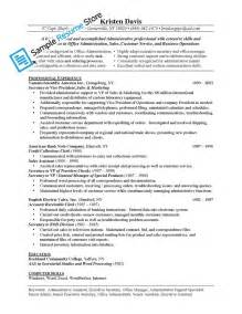 descriptions for resume administrative assistant description for resume
