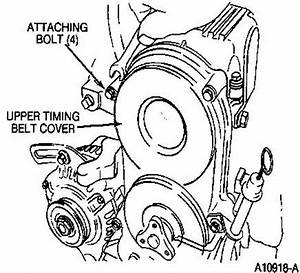 camshaft timing With timing belt cover