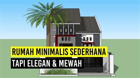 rumah minimalis sederhana tapi elegan model ukuran