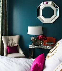 Deco Bleu Petrole : 1001 id es pour une chambre bleu canard p trole et paon ~ Farleysfitness.com Idées de Décoration