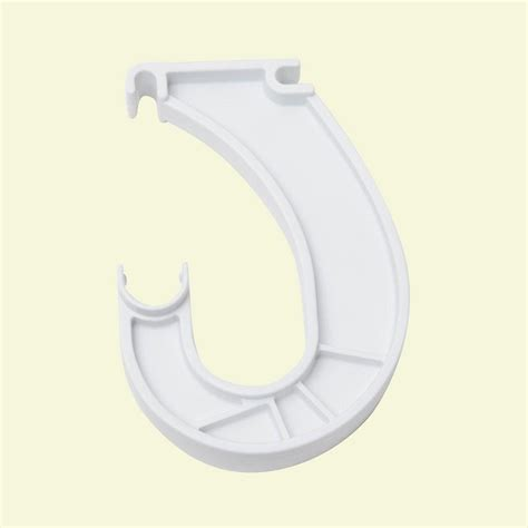 home depot closet rod bracket closetmaid superslide 6 in x 1 in white closet rod
