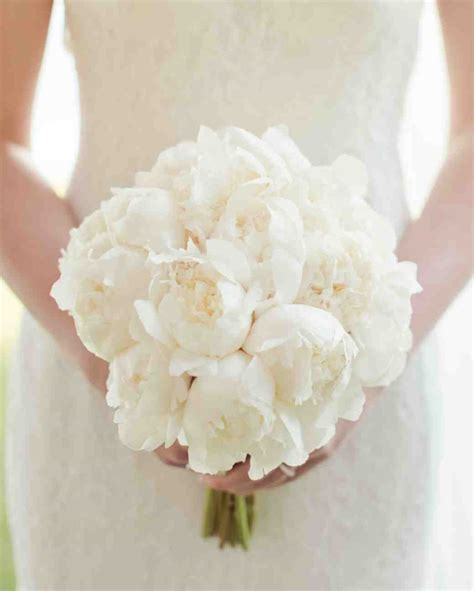 classic white peonies wedding bouquet creative ads