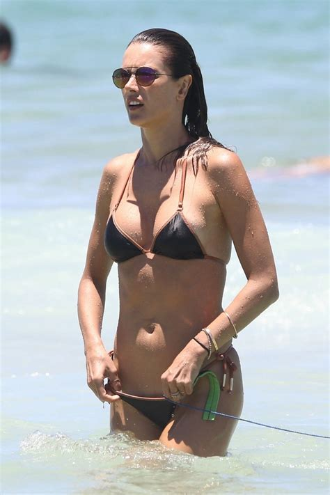 Alessandra Ambrosio Looking Perfect in a Black Bikini ...