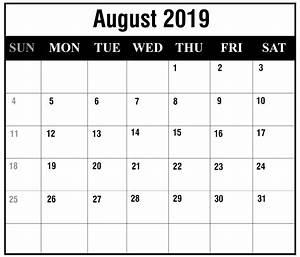 Calender August Free August 2019 Printable Calendar Templates Pdf Excel
