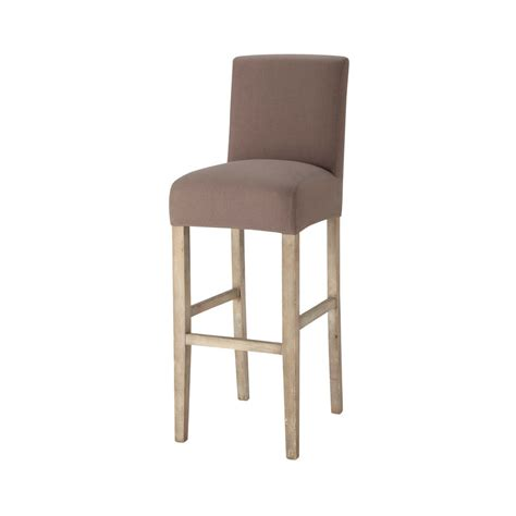 housse de chaise taupe housse de chaise de bar en coton taupe boston maisons du