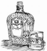 Crown Bottle Royal Drawing Chenevert Becky sketch template