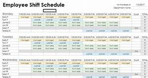 duty roster format for hotel employees project With duty schedule template