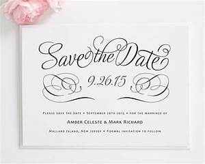 charming script save the date cards best template With wedding invitation wording samples save the date