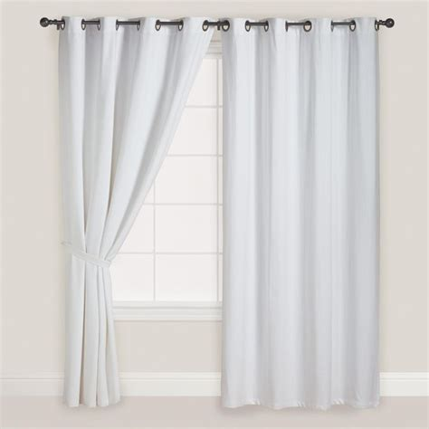 white grommet top curtains set of 2 world