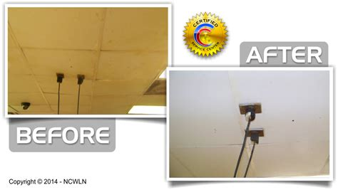 ceiling cleaning and open structure cleaning services in