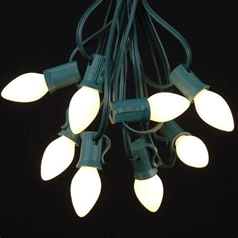 white ceramic c7 outdoor string lights gardenista
