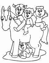 Horse Coloring Pages Riding Horses Cartoons Cartoon Miniature Template Popular Library Clipart Comments Coloringhome sketch template