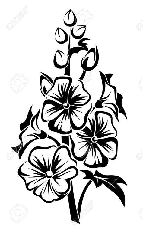 flower stencil buscar  google stencil pinterest