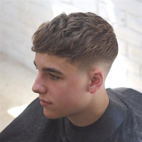 regular fade  curly short top mens hair