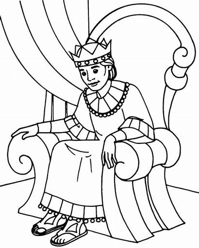 Throne King Coloring Sitting Pages Clipart Queen