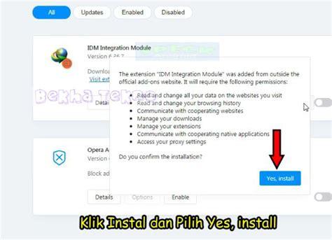 En gros, c'est cette extension qui fait en sorte que les fichiers sur internet soient capturés par idm afin d'être téléchargés. Cara Menampilkan IDM Di Opera Mini Browser Terbaru 100% ...