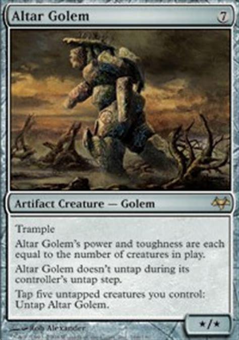 Mtg Golem Tribal Deck by Altar Golem Eventide Magic The Gathering
