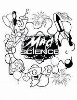 Scientist Coloring Mad Science Getcolorings Printable sketch template