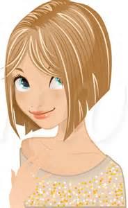Blonde Cartoon Girl Clip Art