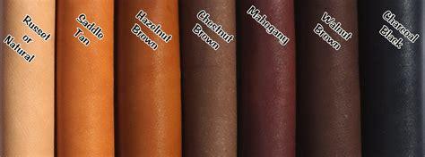 leather colour chart