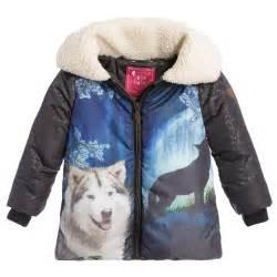 Wolf Print Fleece Jackets