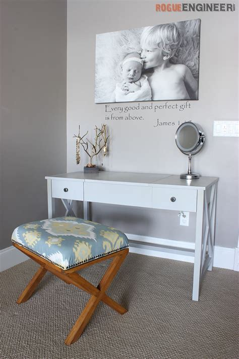 diy vanity table plans white flip top vanity featuring rogue engineer diy