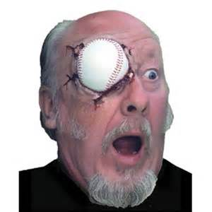 Halloween Half Masks Sale by Woochie Deluxe Baseball Eye Prosthetic