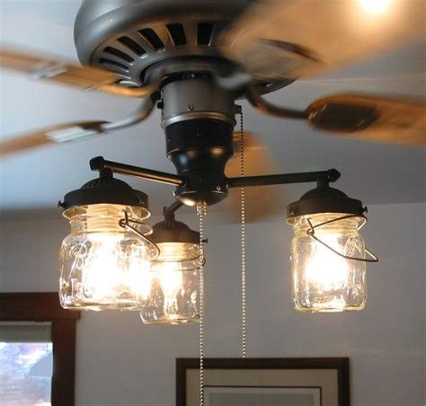 kitchen fans with lights ceiling fan light kit vintage canning jar jar 4756