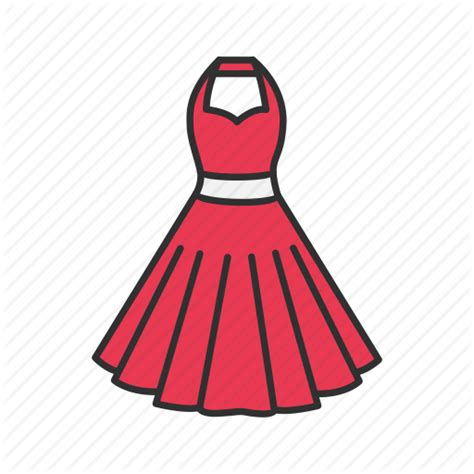 clothing dress red dress womans dress icon