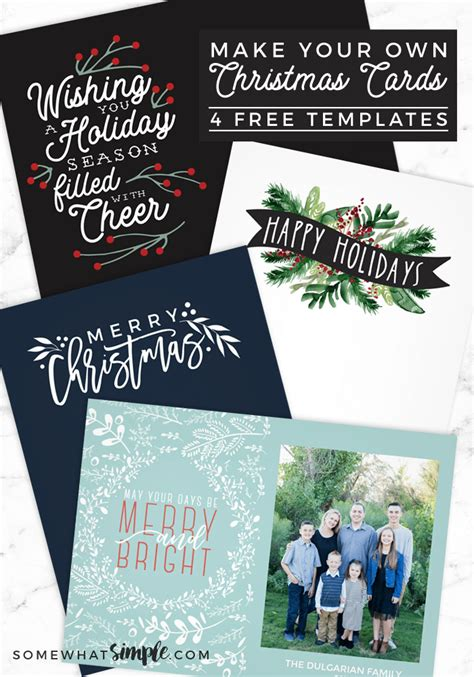 Make Your Own Photo Christmas Cards (for Free!) Somewhat