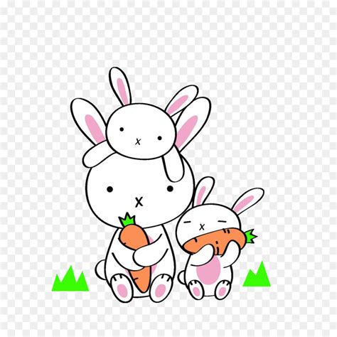 daikon rabbit eating carrot chinese cabbage cute
