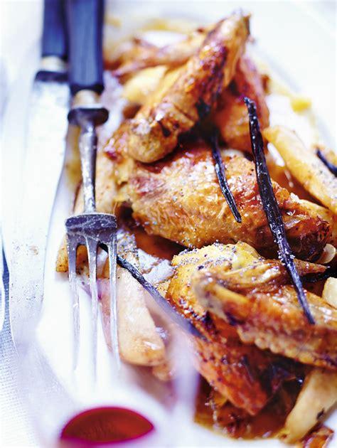recettes de cuisine noel poularde à la vanille poires et amandes pour 6 personnes