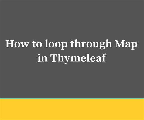 loop  map  thymeleaf frontbackend